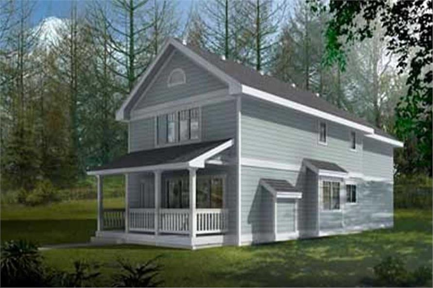 3-Bedroom, 1980 Sq Ft Country House Plan - 119-1229 - Front Exterior