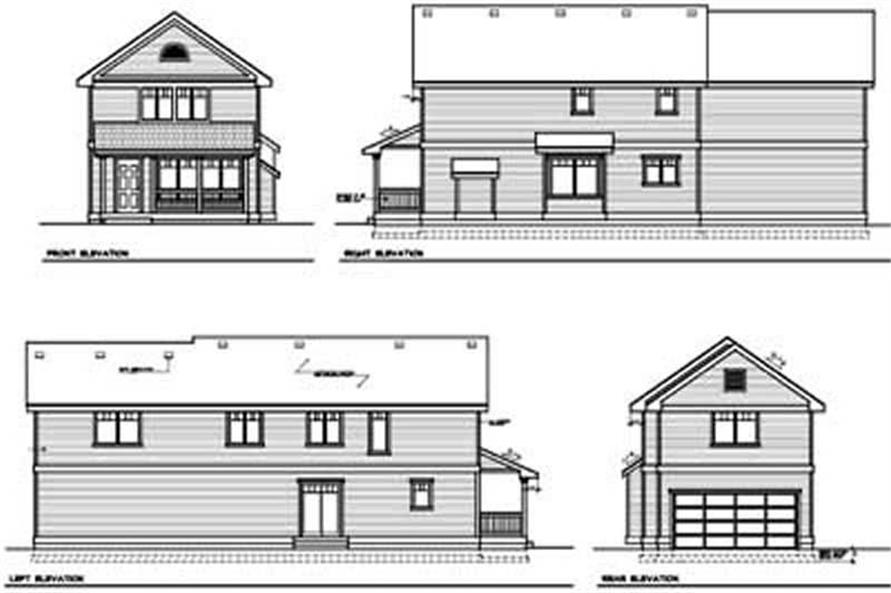 Home Plan Rear Elevation of this 3-Bedroom,1980 Sq Ft Plan -119-1229