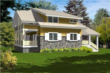 4-Bedroom, 2287 Sq Ft Ranch Home Plan - 119-1232 - Main Exterior
