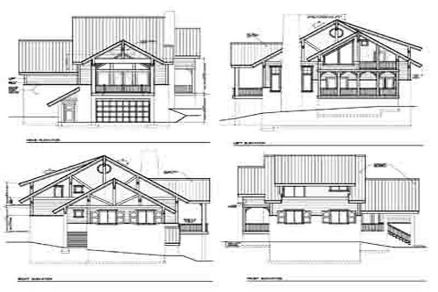 Home Plan Rear Elevation of this 4-Bedroom,2287 Sq Ft Plan -119-1232