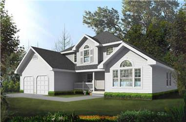 3-Bedroom, 2237 Sq Ft Traditional Home Plan - 119-1233 - Main Exterior