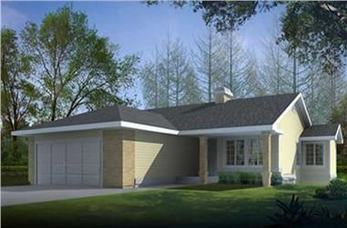 2-Bedroom, 1209 Sq Ft Small House Plans - 119-1235 - Front Exterior