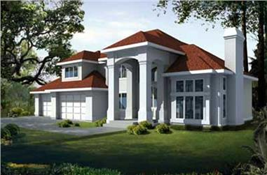 4-Bedroom, 3325 Sq Ft Contemporary Home Plan - 119-1236 - Main Exterior