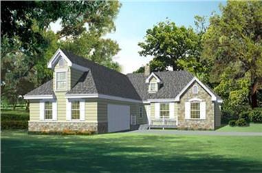 4-Bedroom, 2038 Sq Ft Ranch Home Plan - 119-1237 - Main Exterior