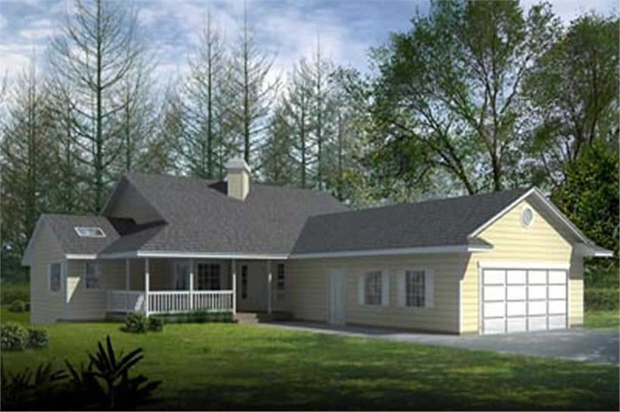 2-Bedroom, 1782 Sq Ft Ranch Home Plan - 119-1238 - Main Exterior