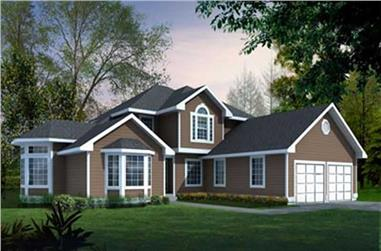 3-Bedroom, 2287 Sq Ft Traditional Home Plan - 119-1239 - Main Exterior