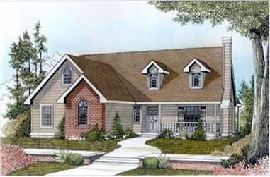 3-Bedroom, 1450 Sq Ft Bungalow Home Plan - 119-1242 - Main Exterior