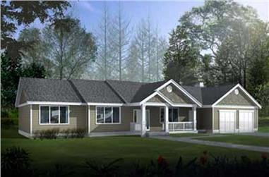 3-Bedroom, 2251 Sq Ft Ranch Home Plan - 119-1244 - Main Exterior