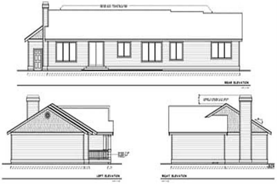 Home Plan Rear Elevation of this 3-Bedroom,2251 Sq Ft Plan -119-1244
