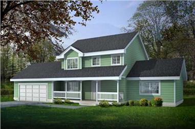 4-Bedroom, 1727 Sq Ft Country House Plan - 119-1245 - Front Exterior