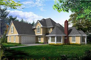 3-Bedroom, 2637 Sq Ft Traditional Home Plan - 119-1246 - Main Exterior