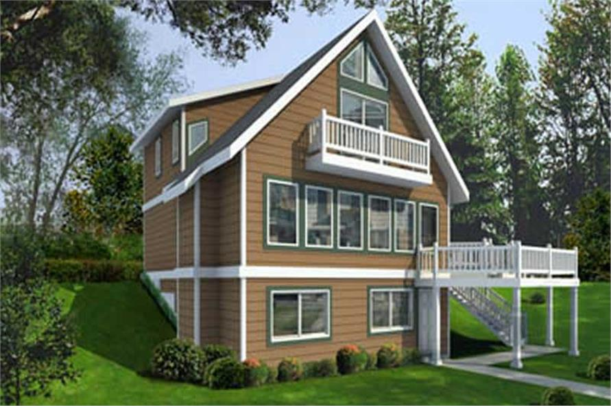 4-Bedroom, 1469 Sq Ft Contemporary Home Plan - 119-1247 - Main Exterior
