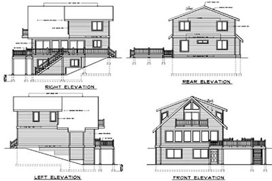 Home Plan Rear Elevation of this 4-Bedroom,1469 Sq Ft Plan -119-1247