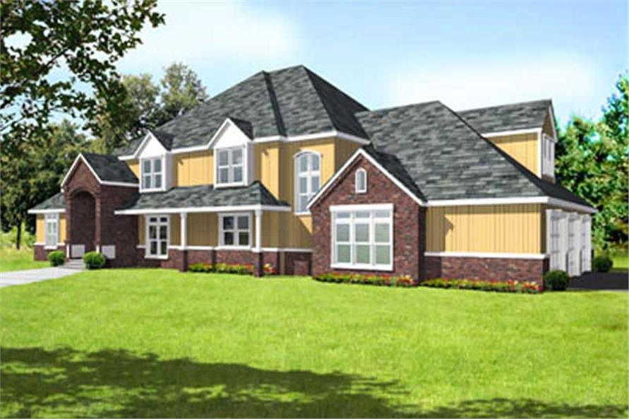 4-Bedroom, 5927 Sq Ft Colonial House Plan - 119-1248 - Front Exterior