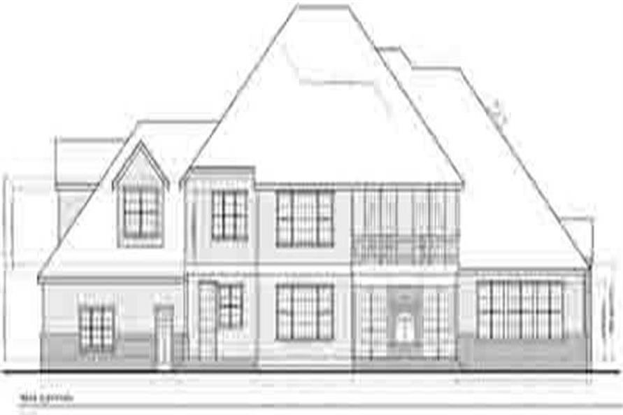 Home Plan Rear Elevation of this 4-Bedroom,5927 Sq Ft Plan -119-1248