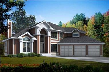 3-Bedroom, 2832 Sq Ft Mediterranean Home Plan - 119-1250 - Main Exterior