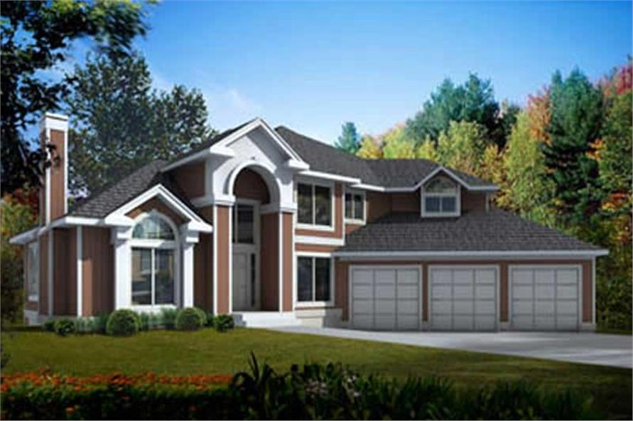 3-Bedroom, 2832 Sq Ft Mediterranean Home Plan - 119-1250 - Main Exterior