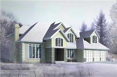 4-Bedroom, 3514 Sq Ft Craftsman House Plan - 119-1251 - Front Exterior