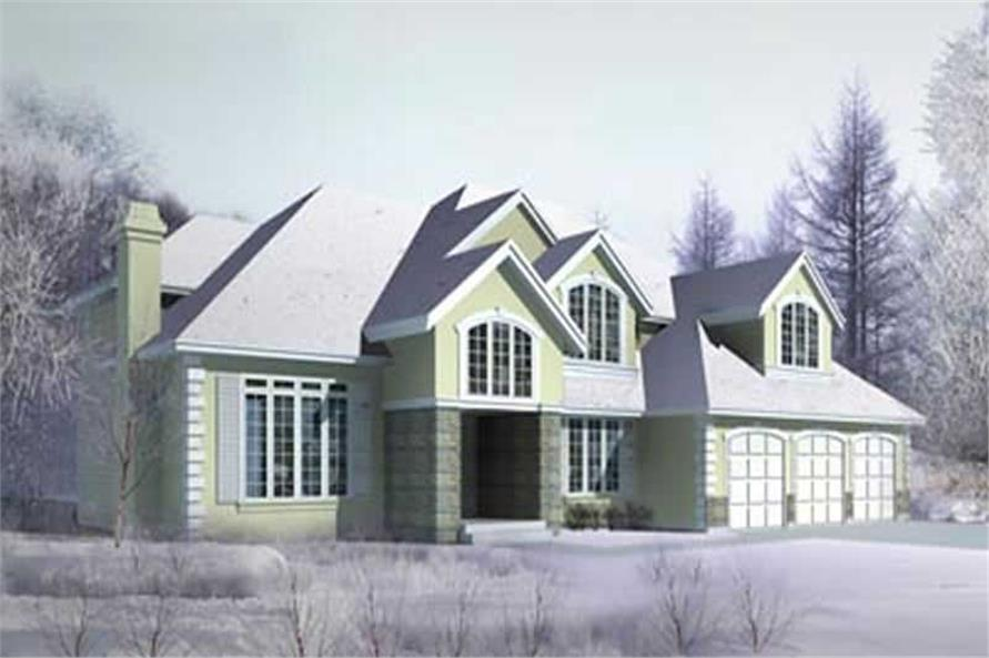 4-Bedroom, 3514 Sq Ft Craftsman House Plan - 119-1251 - Front Exterior