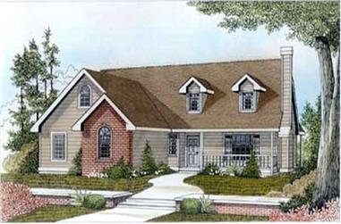 3-Bedroom, 1400 Sq Ft Bungalow Home Plan - 119-1252 - Main Exterior