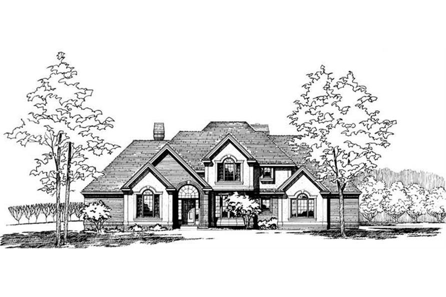 Front Rendering of this 4-Bedroom,3172 Sq Ft Plan -3172
