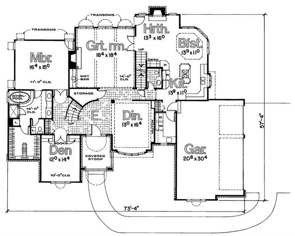 120-1000 house plan first floor