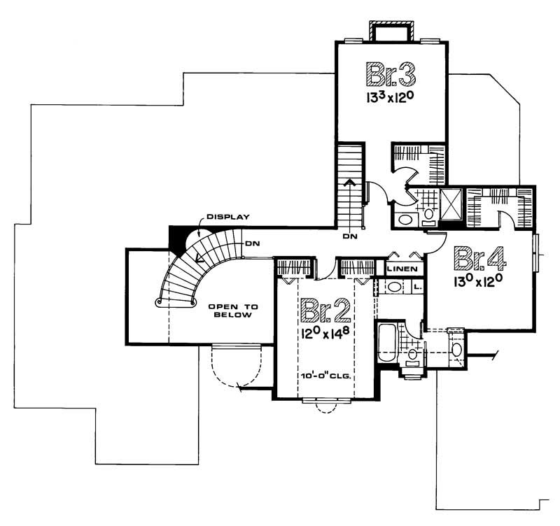 House Plan #120-1000 : 4 Bedroom, 3172 Sq Ft Luxury