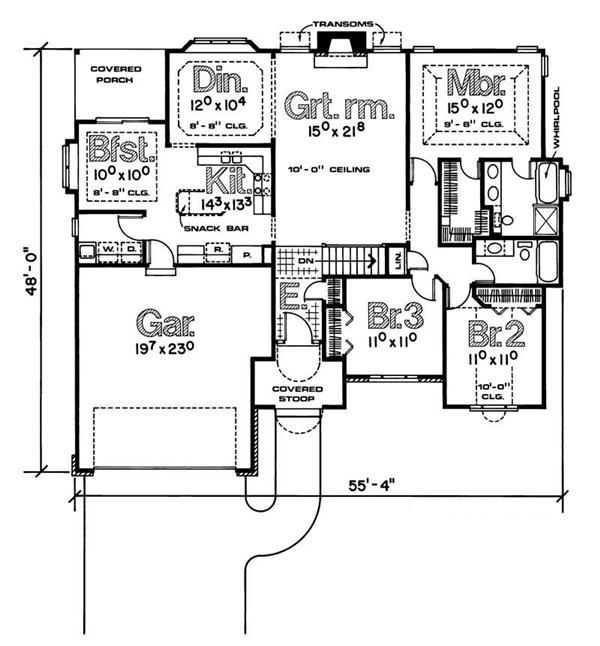 120-1002 house plan main level