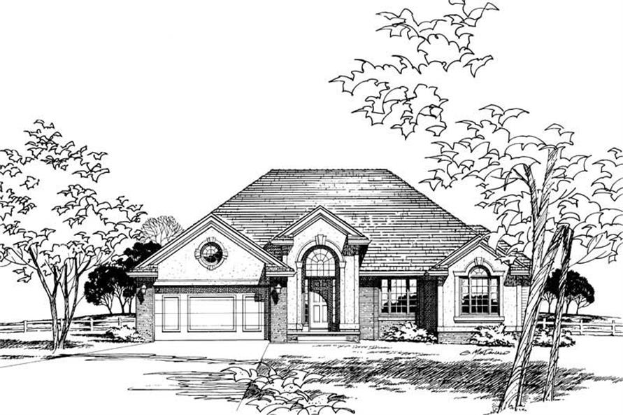 Front Elevation of this 3-Bedroom,1666 Sq Ft Plan -1666
