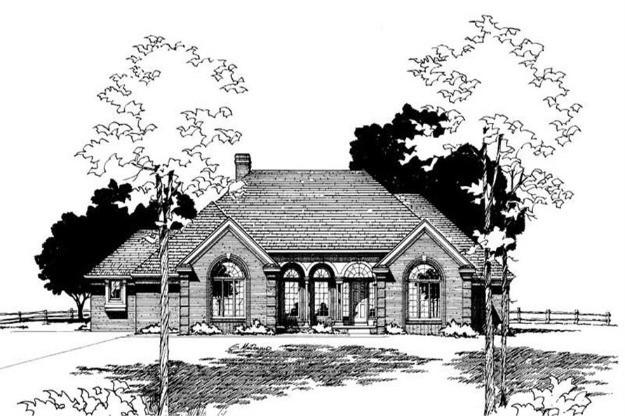 Front Elevation of this 3-Bedroom,2512 Sq Ft Plan -2512
