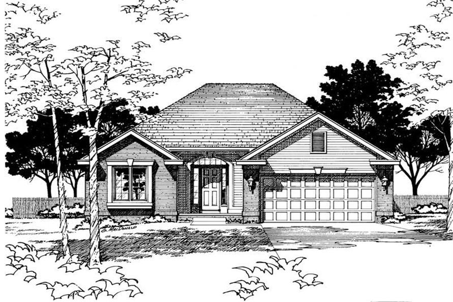 Home Plan Rendering of this 2-Bedroom,1499 Sq Ft Plan -120-1006