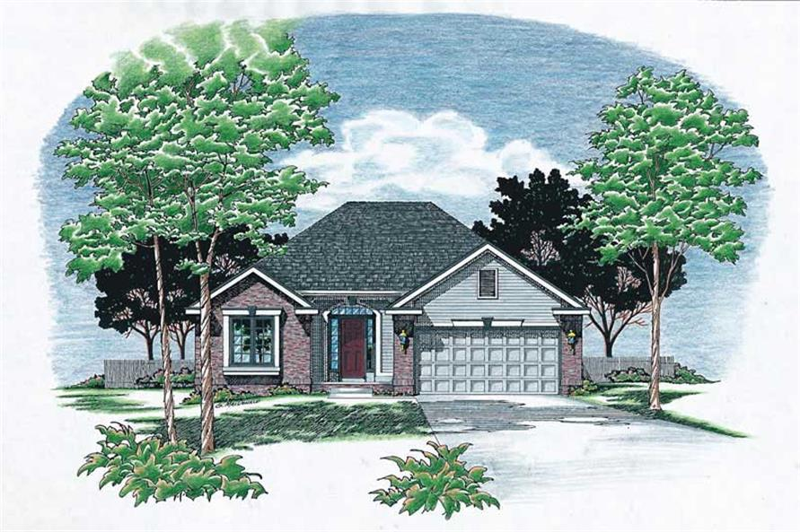 2-Bedroom, 1499 Sq Ft Small House Plans - 120-1006 - Front Exterior
