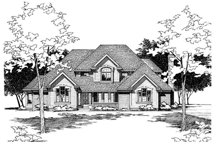 Front Elevation of this 4-Bedroom,2979 Sq Ft Plan -2979