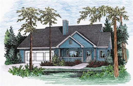 Main image for house plan # 5489