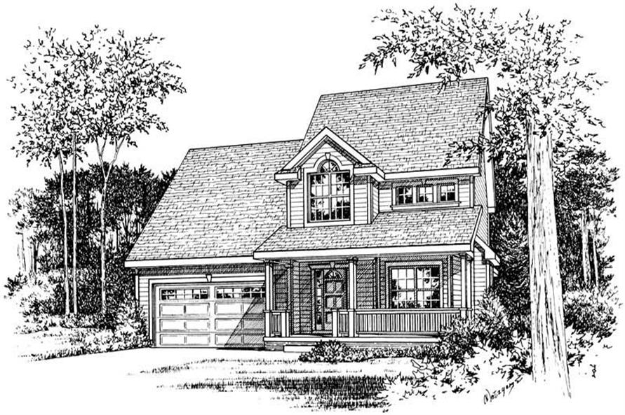 Home Plan Rendering of this 3-Bedroom,1518 Sq Ft Plan -120-1009