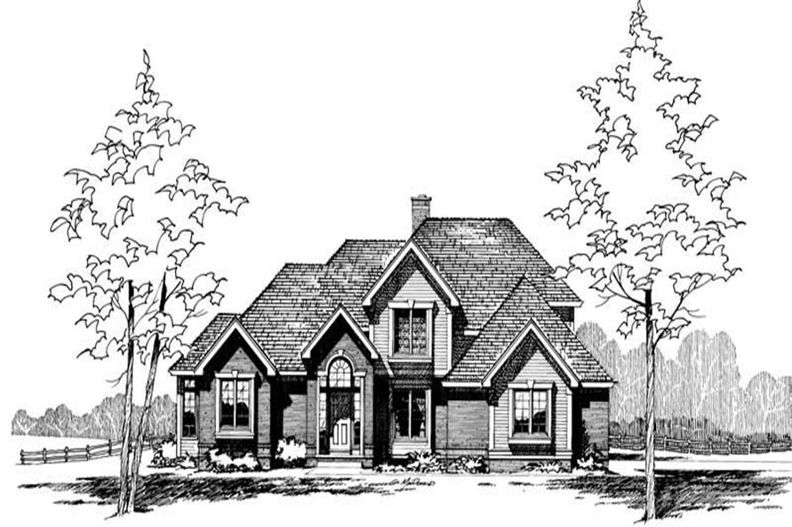 Front Elevation of this 4-Bedroom,2405 Sq Ft Plan -2405