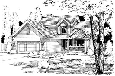 3-Bedroom, 1765 Sq Ft Small House Plans - 120-1034 - Front Exterior