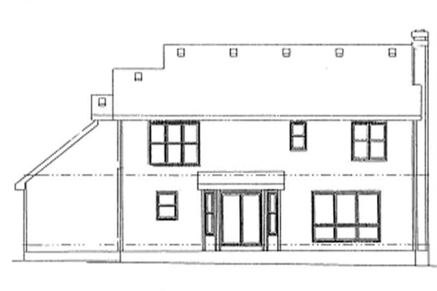 Home Plan Rear Elevation of this 4-Bedroom,2550 Sq Ft Plan -120-1037