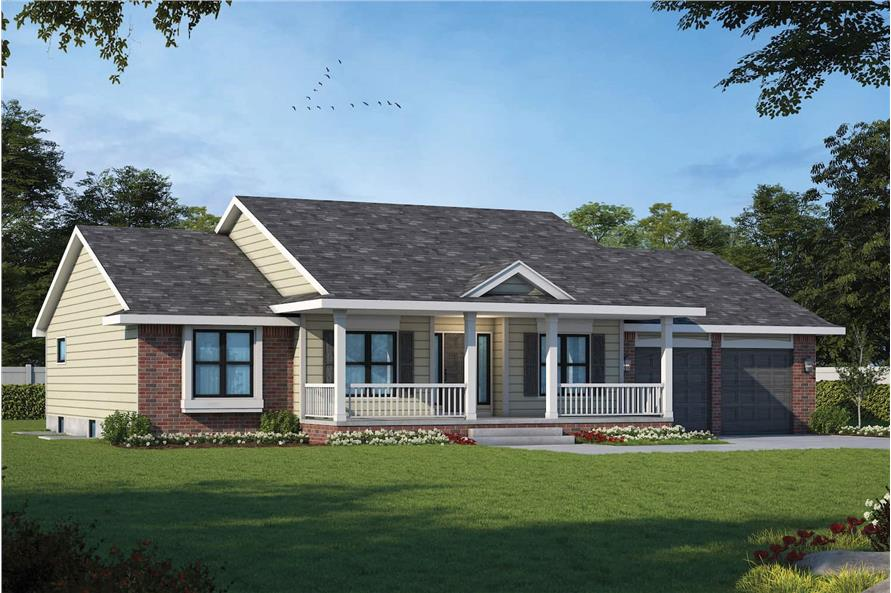 Left View of this 3-Bedroom,2042 Sq Ft Plan -120-1041