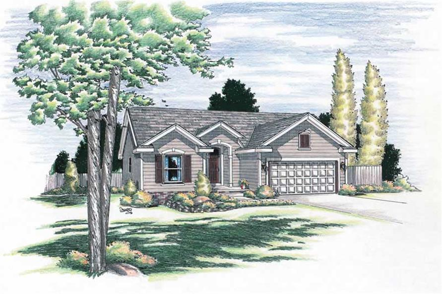 2-Bedroom, 1212 Sq Ft Small House Plans - 120-1045 - Front Exterior