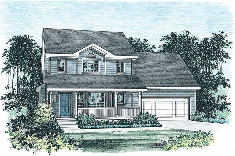 2-Bedroom, 1400 Sq Ft Country House Plan - 120-1046 - Front Exterior
