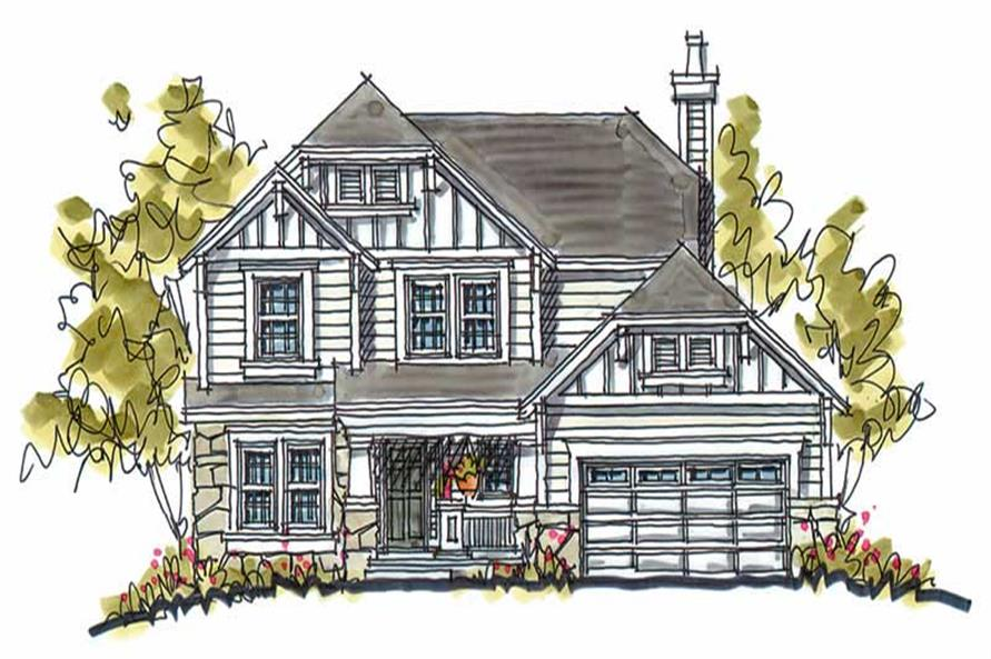 4-Bedroom, 2200 Sq Ft Traditional House Plan - 120-1047 - Front Exterior