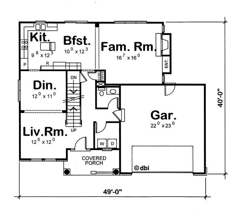 House plan 120 1047 4 bedroom 2200 sq ft traditional for Floor plans for 2200 sq ft homes
