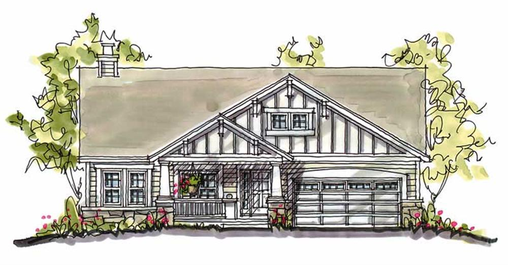 Front elevation of Country home (ThePlanCollection: House Plan #120-1049)