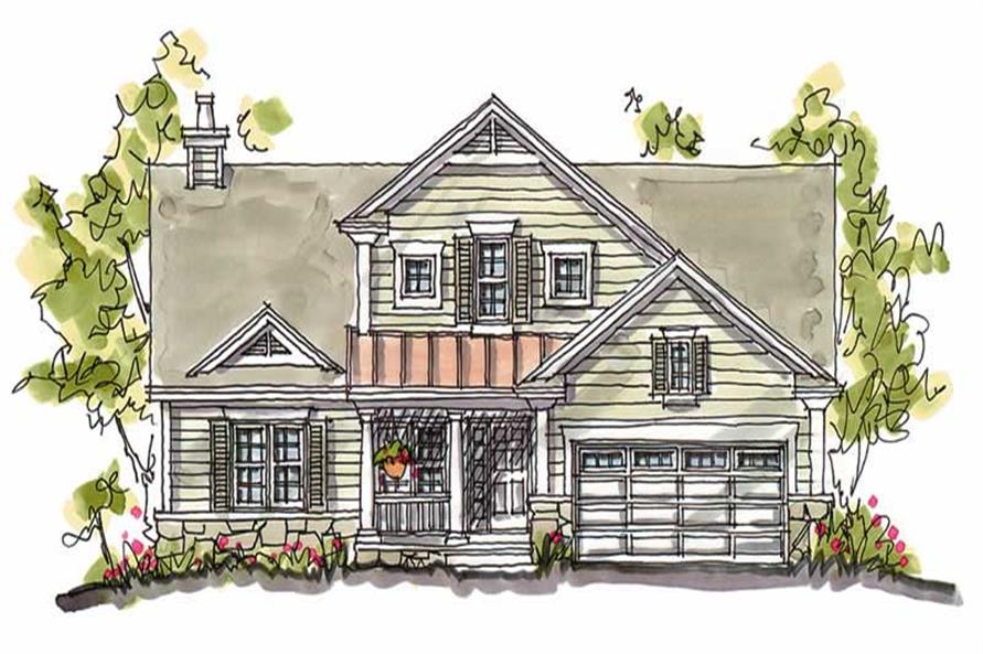 Main image for house plan # 5772