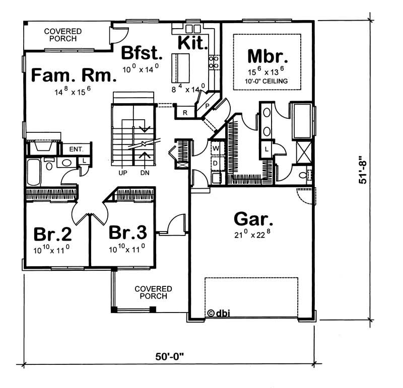 House plan 120 1050 4 bedroom 2425 sq ft country for 1050 sq ft floor plans