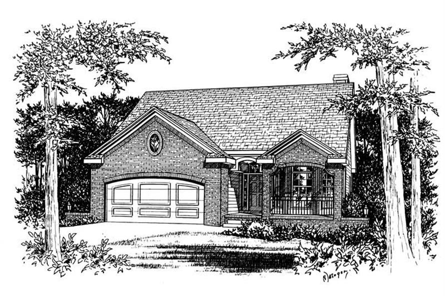 2-Bedroom, 1509 Sq Ft Small House Plans - 120-1052 - Main Exterior