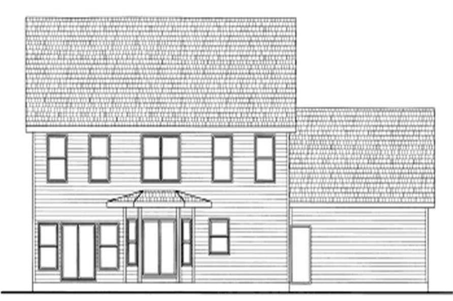 Home Plan Rear Elevation of this 3-Bedroom,1960 Sq Ft Plan -120-1053