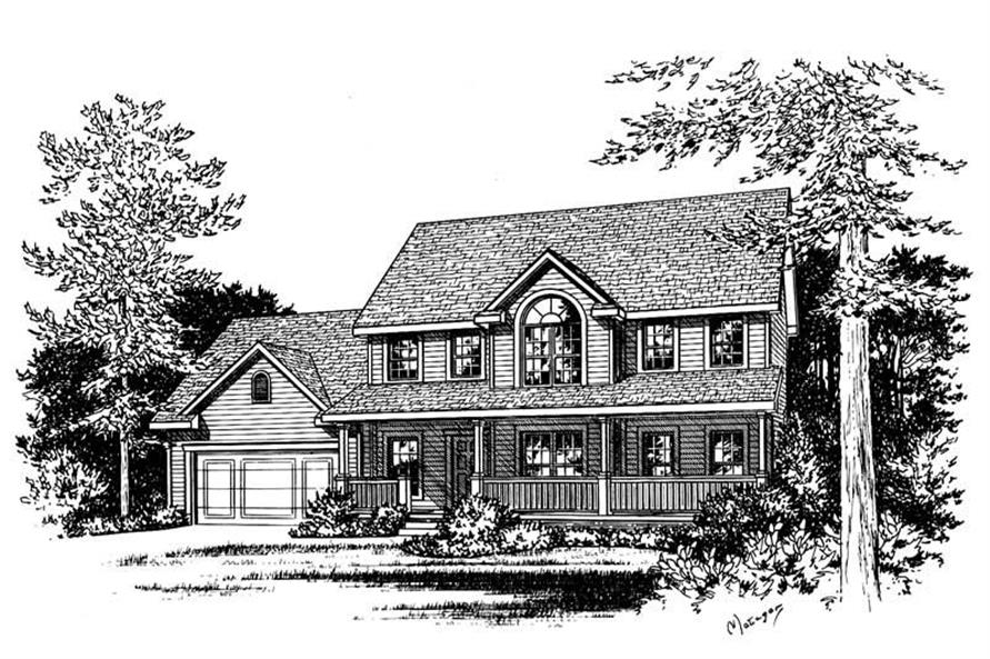 Home Plan Rendering of this 3-Bedroom,1960 Sq Ft Plan -120-1053