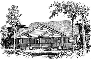 2-Bedroom, 1142 Sq Ft Country House Plan - 120-1055 - Front Exterior